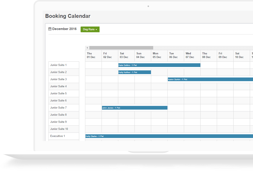 KennelBooker Booking Calendar Image
